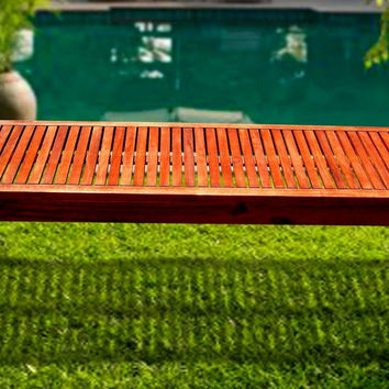Outdoor FSC Eucalyptus Backless Bench by Vifah