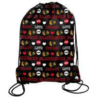 Chicago Blackhawks Mural Love Drawstring Backpack