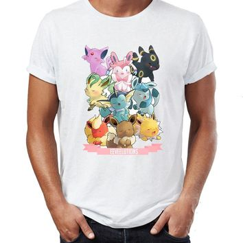 Men's T Shirt  Evolution Gaming Funny Awesome TeeKawaii Pokemon go  AT_89_9