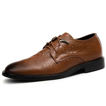 Genuine Cowhide Leather Oxford Business Formal Shoes