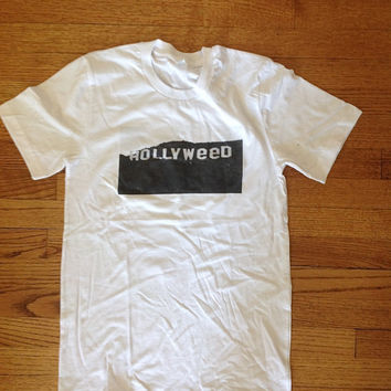 Hollyweed hollywood tshirt unisex clothing brandy melville inspired graphic tee women's clothing brandy melville