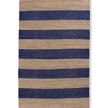 Kate Spade Seaside Stripe Rug Navy