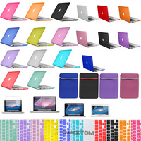 "Rubberized hard Cover Crystal case for Macbook PRO 13"" 15"" +Retina AIR 11"" 13"""
