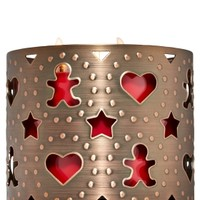 3-Wick Candle Sleeve Gingerbread & Hearts