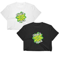 Atomic Flower Crop Top