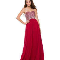 PRIMA Glitz GZ1518 Banded Bead Top Evening Gown Prom Dress