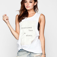 Element Kind Campaign Story Womens Muscle Tank White  In Sizes