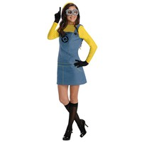 Despicable Me 2 Lady Minion Costume - Adult (Blue/Black/Yellow)