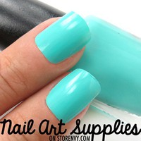 Dark Mint - Mint Blue Green Nail Polish Lacquer 9.8ml from nailartsupplies