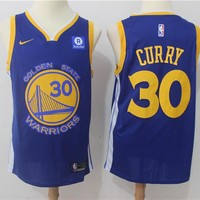 Best Deal Online NBA Basketball Swingman Jerseys Golden State Warriors # 30 Stephen Curry Blue