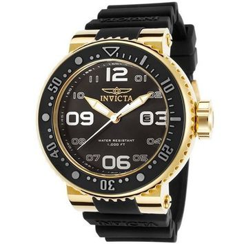 Invicta Men's 21521 Pro Diver Analog Display Japanese Quartz Black Watch