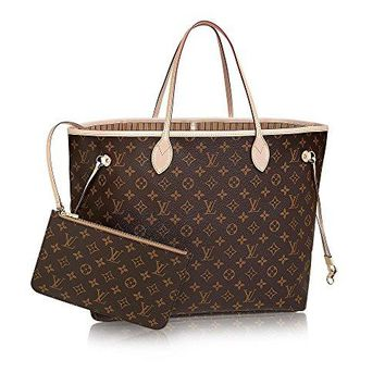 Neverfull Style Canvas Woman Organizer Handbag Monogram Tote Shoulder Fashion Bag GM Size by LAMB