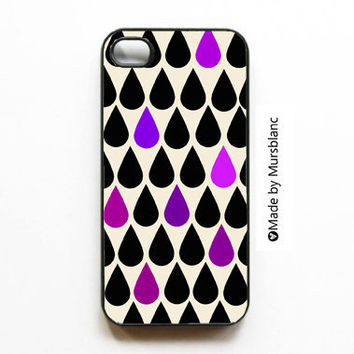 iphone case  Rain Drops Happy Drops Tear Drops Rain by MursBlanc