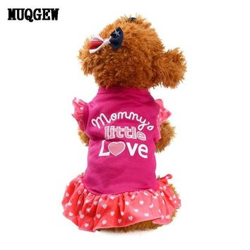 VONFC9 Summer Cute dog clothes for small dogs girl Cat Clothes Pet Dog Pet Products roupa para cachorro