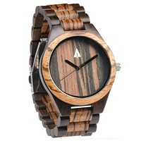 All Wood Watch // Zebrawood + Ebony 37