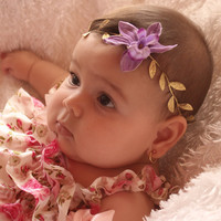 Mythical Purple Flower Headband