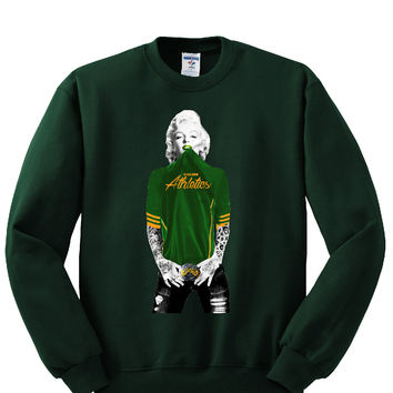 Marilyn Monroe Oakland A's Sweatshirt Sports Clothing