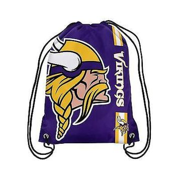 Minnesota Vikings Big Logo Drawstring Backpack Minnesota Vikings