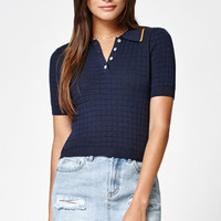 Kendall and Kylie Tipped Knit Polo Sweater at PacSun.com