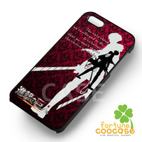 Attack on titan shingeki no kyoujin levi rivaille cartoon quote -tr1 for iPhone 4/4S/5/5S/5C/6/ 6+,samsung S3/S4/S5/S6 Regular/S6 Edge,samsung note 3/4