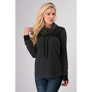 Winter Nights Top - Charcoal