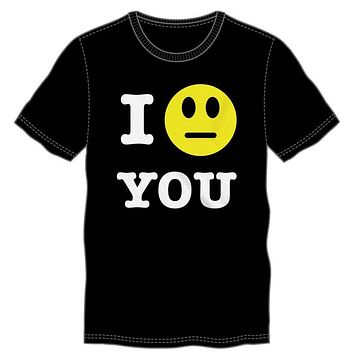 I Straight Neutral Face Emoji You T-Shirt Tee Shirt For Men - Great Gift