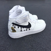 Custom Nike Air Force 1 Mid OVO Drake Summer Sixteen