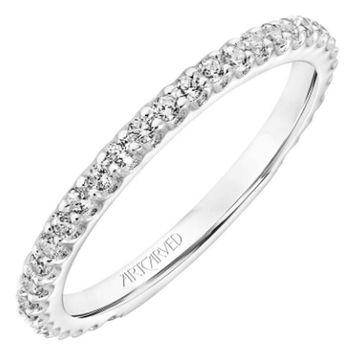 "Artcarved ""Erin"" Prong Set Diamond Wedding Band"