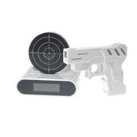 "Unique 2.3"" LCD Gun Target Shooting Alarm Clock Set (4*AA/2*AA)"