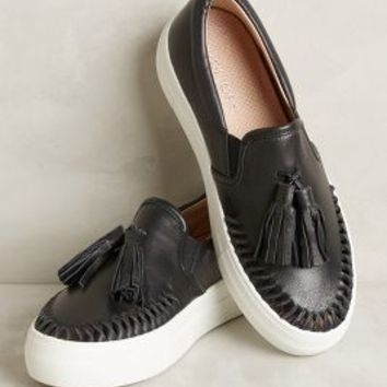 Tasseled Leather Sneakers by Anthropologie