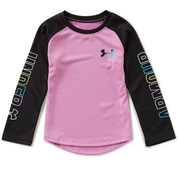 Under Armour Little Girls 2T-6X Wordmark Long-Sleeve Tee | Dillards