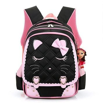 2017 Girls School Bags Children Backpack Primary Bookbag Orthopedic Princess Schoolbags Mochila Infantil sac a dos enfant