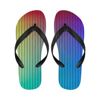 color gradient Flip Flops for Men/Women (Model 040) | ID: D2693773
