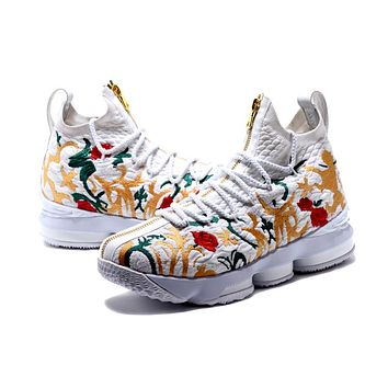 Hot Sale! Nike LeBron 15 Floral White For Sale
