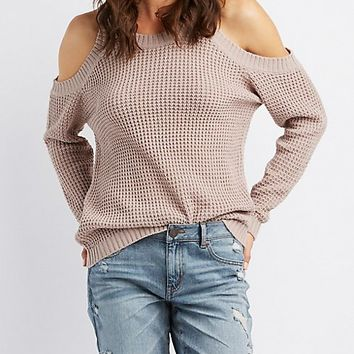 Cold Shoulder Pullover Sweater | Charlotte Russe