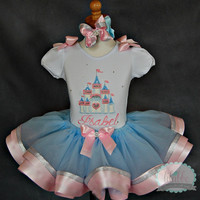 Cinderella, Princess Tutu Set~Includes Top or Onesuit, Tutu, and Hair Accessory~for BIRTHDAYS or DISNEY