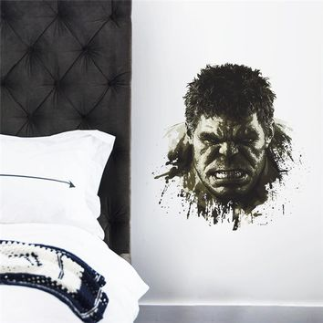 Hulk Wall Stickers Kids Room Decor Avengers Diy Home Decals Cartoon Movie Mural Art Poster Super Heros  Peel And Stick