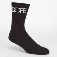 Dope Classic Logo Mens Crew Socks Black One Size For Men 24185310001