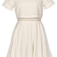 Miracle Maker Dress | White Two-Piece Set Skater Dresses | RicketyRack.com