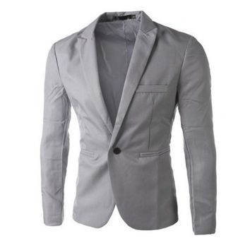 Spring New Men Casual Suit Korean Fashion Small Blazer Men Slim Fit Male Stylish Business Long Sleeve Single Breasted Jackets