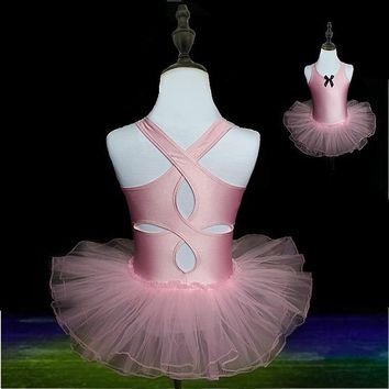 Child Ballet Dance Costumes Vest Ballet Leotards For Girls Kids Gymnastic Leotard Dancing Practice Grading Clothes Tutu Skirt
