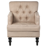 Home Loft Concept Karl Tufted Upholstered Club Arm Chair
