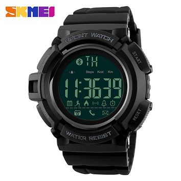 SKMEI Bluetooth Smart Watch Men Sports Watches Pedometer Calories Chronograph Fashion 50M Waterproof Digital Wristwatches 1245