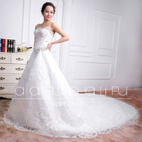 Bridal 2015 new wedding dress lace wedding bride wedding tail shoulder waist bridal dress = 1929450564