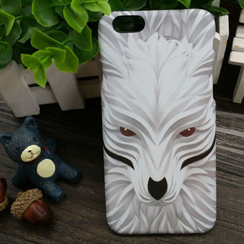 3D So Cool Luminous SnowWolf Case Cover for iPhone 5s 6 6s Plus Gift 3