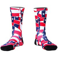 Texas Flag Party Athletic Crew Socks