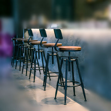 Bar Stools Swivel With Back Vintage Retro Breakfast Kitchen Counter Chair
