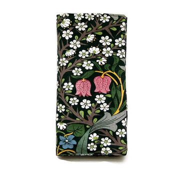 Travel wallet, travel organiser, passport holder, multiple passport cover, document case, William Morris Blackthorn  Arts and Crafts.