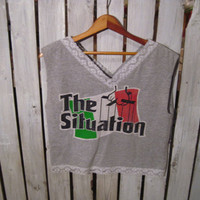 The Situation, Italian Girls Rock, Jersey Shore, Reconstructed T-Shirt, Size Small