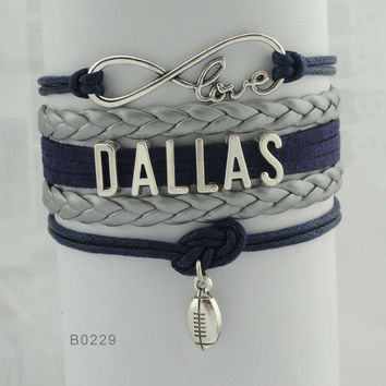 Infinity Love Football Bracelet - Dallas Football